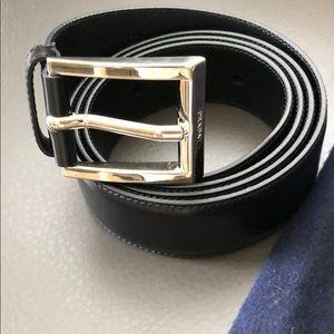 PRADA Authentic Black Men's Belt